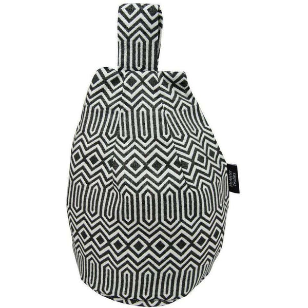 McAlister Textiles Colorado Geometric Black Bean Bag Stand Mini Bean Bag