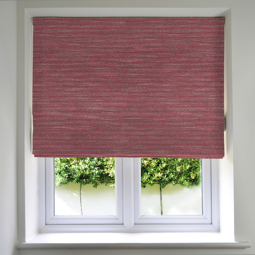 McAlister Textiles Hamleton Red Textured Plain Roman Blinds Roman Blinds Standard Lining 130cm x 200cm Red
