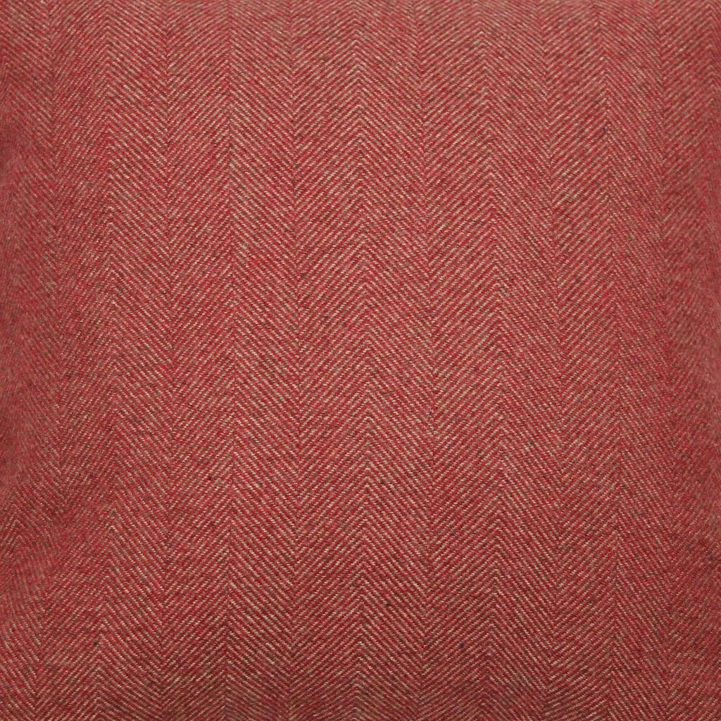 McAlister Textiles Herringbone Boutique Red + Grey Throw Blanket Throws and Runners