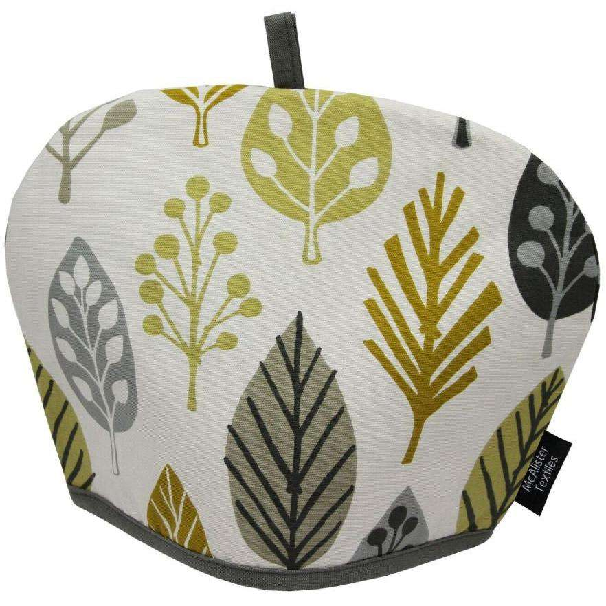 McAlister Textiles Magda Floral Ochre Yellow Tea Cosy Kitchen Accessories