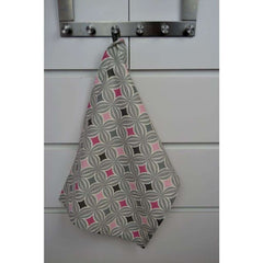 McAlister Textiles Geometric Design Blush Pink Tea Towel Set-Kitchen Accessories-