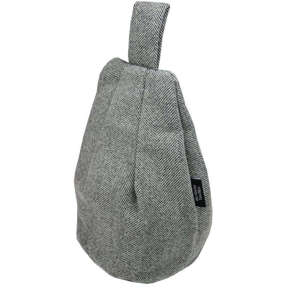 McAlister Textiles Herringbone Charcoal Grey Tablet Stand Mini Bean Bag