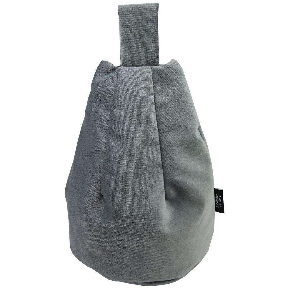 McAlister Textiles Matt Charcoal Grey Velvet Tablet Stand Mini Bean Bag