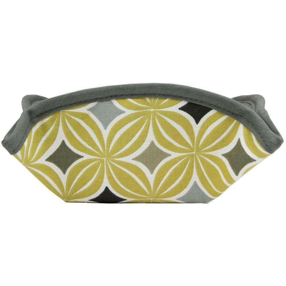 McAlister Textiles Laila Yellow Cotton Print Bread Basket Kitchen Accessories