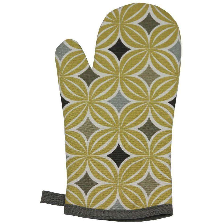 McAlister Textiles Laila Cotton Double Oven Gloves - Ochre Yellow Kitchen Accessories