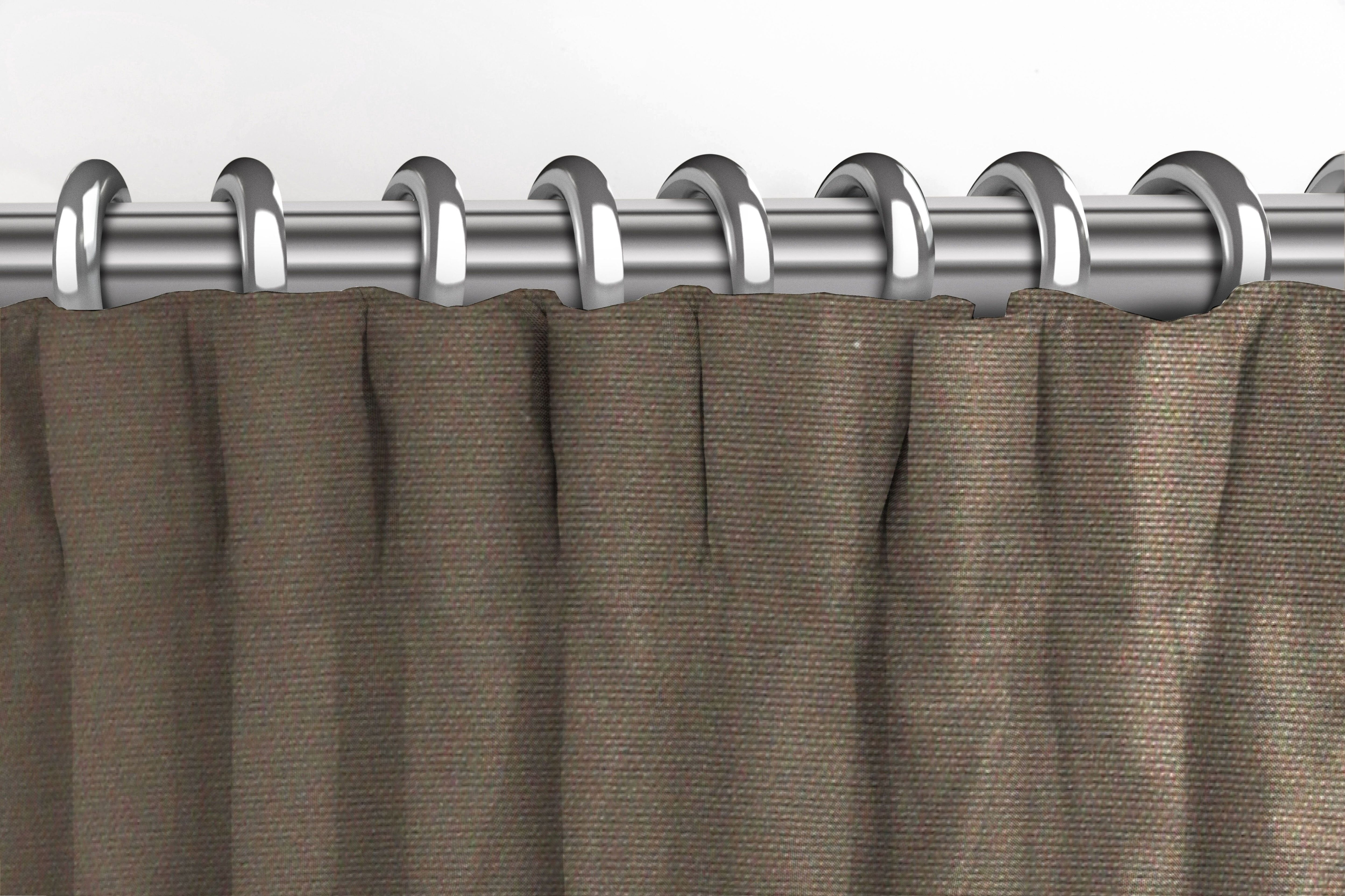 McAlister Textiles Panama Plain Truffle Curtains Tailored Curtains