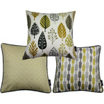 Load image into Gallery viewer, McAlister Textiles Copenhagen Ochre Yellow 43cm x 43cm Cushion Set of 3 Cushions and Covers Cushion Cover