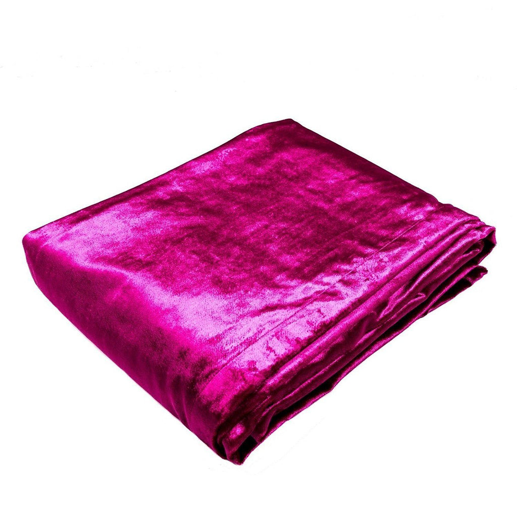 McAlister Textiles Fuchsia Pink Crushed Velvet Throws & Runners Throws and Runners Bed Runner (50cm x 240cm)