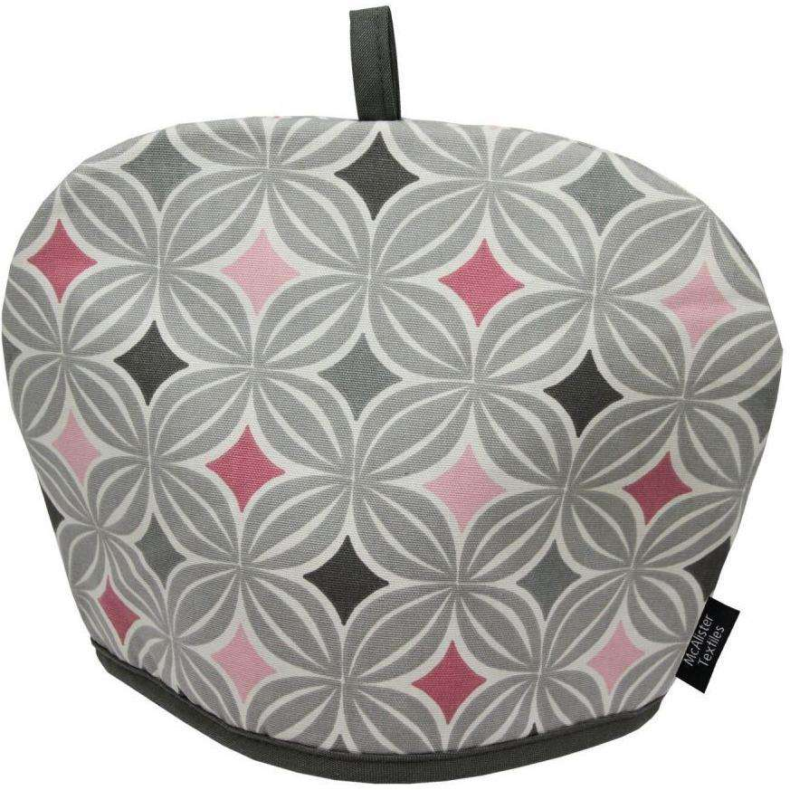 Mcalister Textiles Laila Geometric Blush Pink Tea Cosy Kitchen Accessories