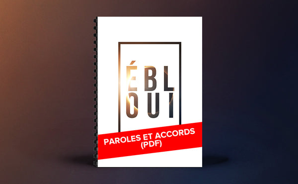 "Paroles et accords ""Ébloui"" - Version digitale"