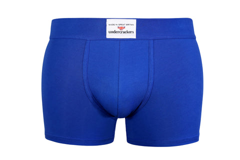 Luxury Velour Blue Stretch Boxer Trunks