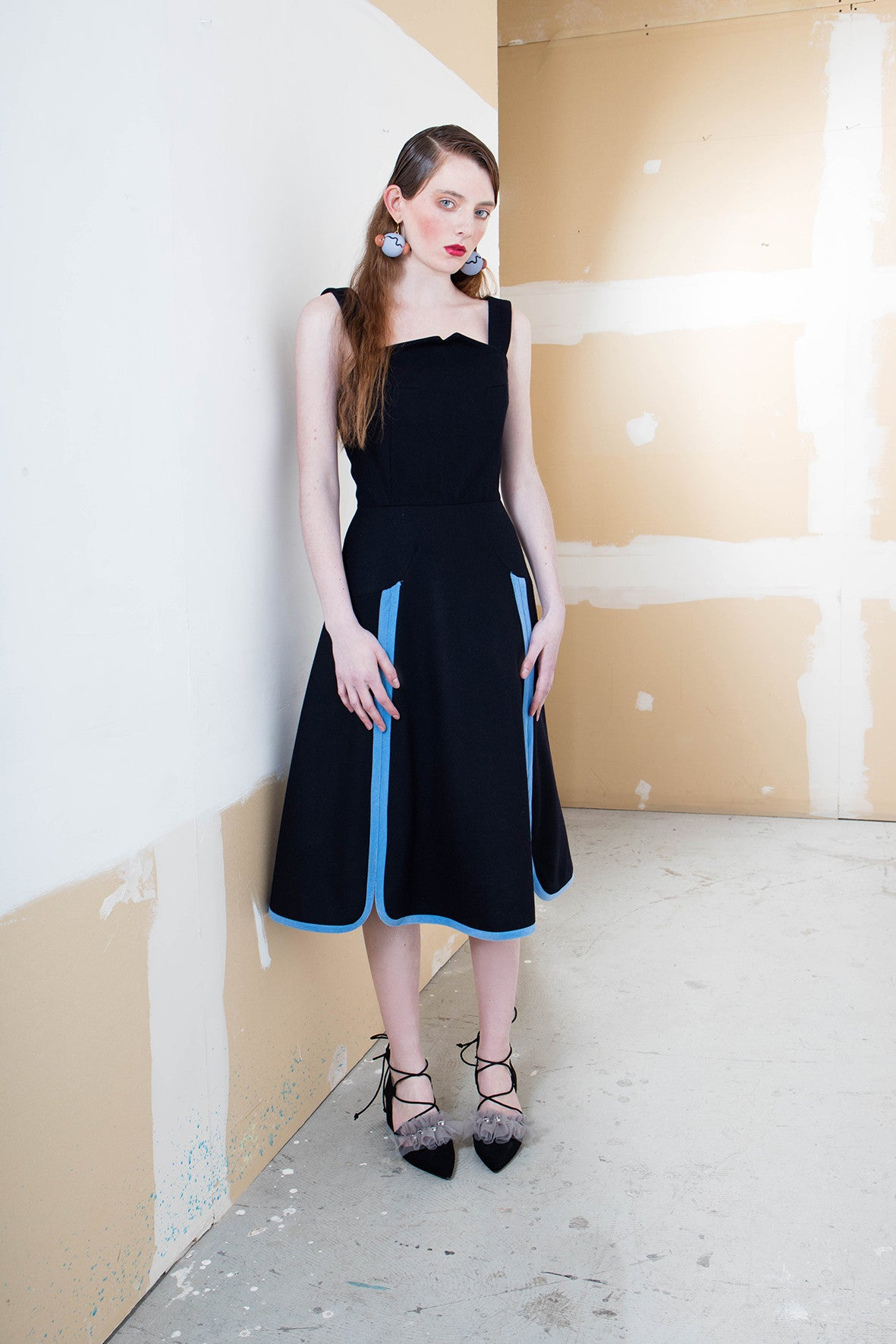 MIN WU Strap Dress With Binding