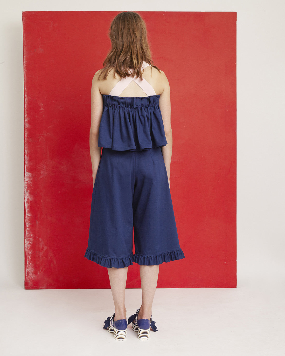SS17 Ruffled Jeans Culottes