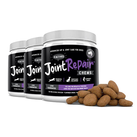 3 Bottles of Joint Repair Chews 120ct.