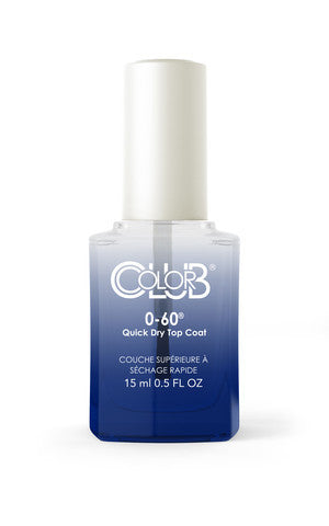 0-60 Quick Dry Top Coat 15ml - Color Club