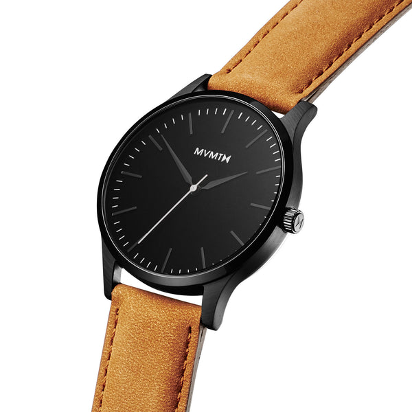 Đồng Hồ MVMT The 40 Series - Black/Tan Leather