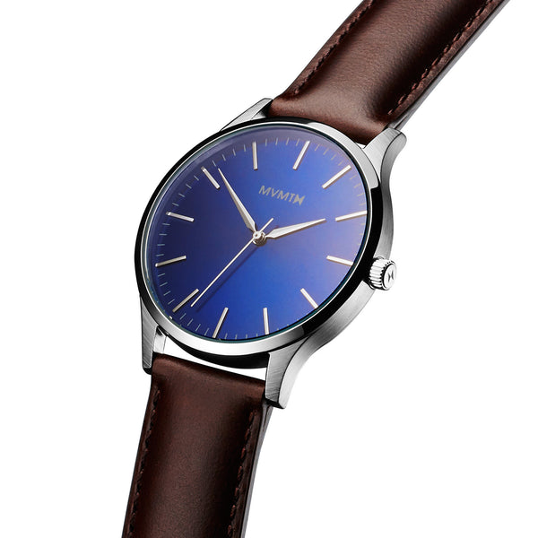 Đồng Hồ MVMT The 40 Series - Blue/Brown Leather