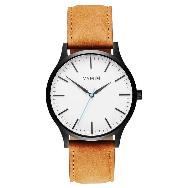 Đồng Hồ MVMT The 40 Series - White Black/Tan Leather