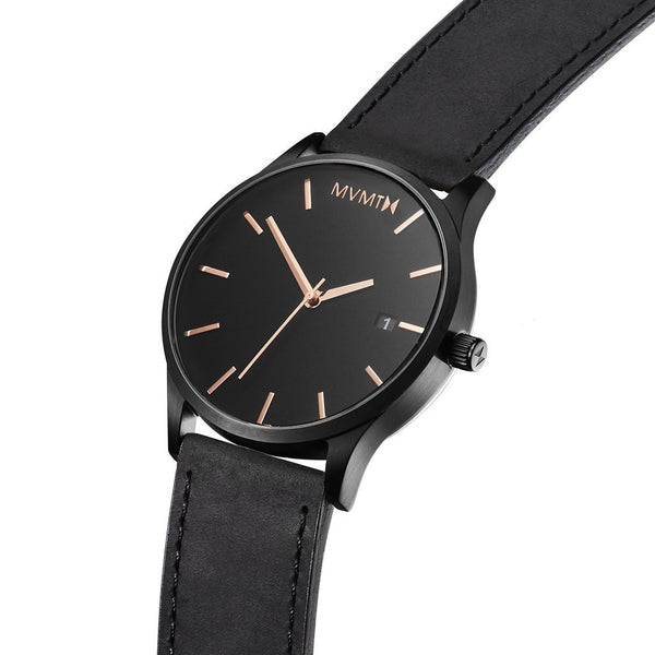 Đồng Hồ MVMT Black Rose Leather