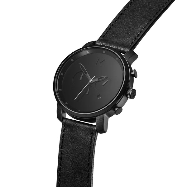Đồng Hồ MVMT Chrono Black Leather
