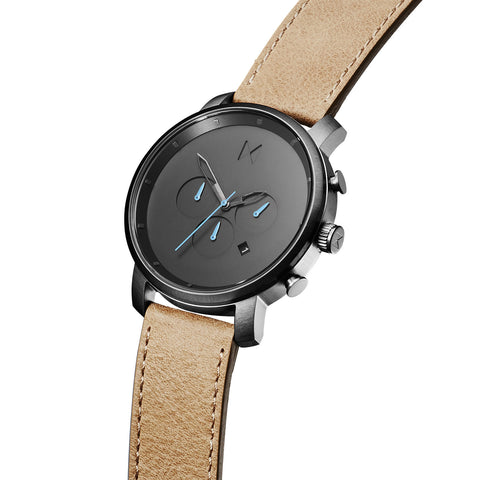Đồng Hồ MVMT Chrono Gun Metal/Sandstone Leather