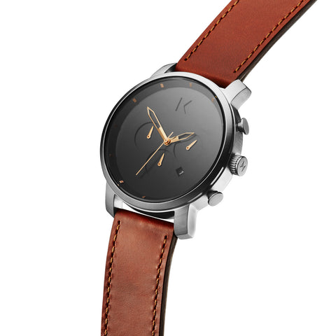 Đồng Hồ MVMT Chrono Silver/Natural Leather