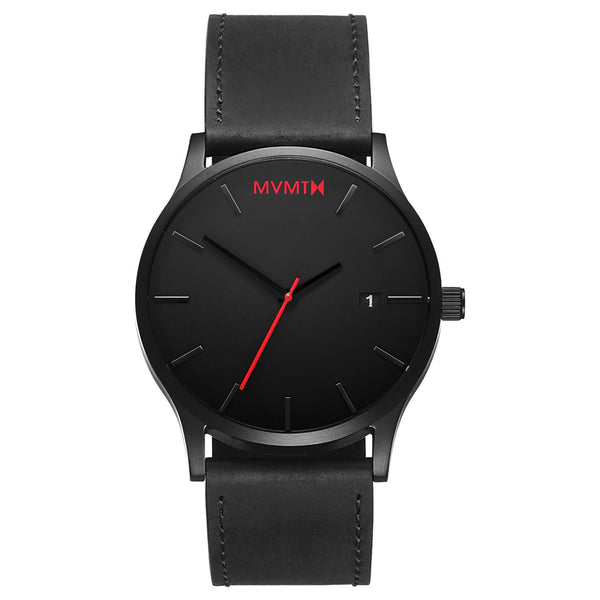 Đồng Hồ MVMT Black/Black Leather