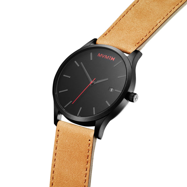 Đồng Hồ MVMT Black/Tan Leather