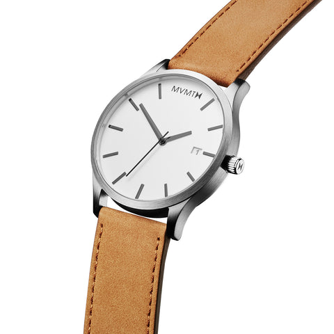 Đồng Hồ MVMT White/Tan Leather