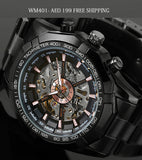 WM401 CLASSIC LUXURY MEN TRANSPARENT AUTOMATIC SKELETON MECHANICAL WATCHES