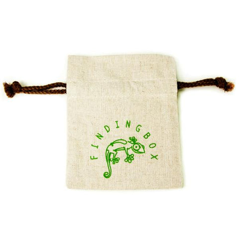 100 PCS Silkscreen Faux Linen, Drawstrings On the Neck
