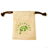 100 PCS Silkscreen Faux Gunny Pouch, Drawstrings On the Top