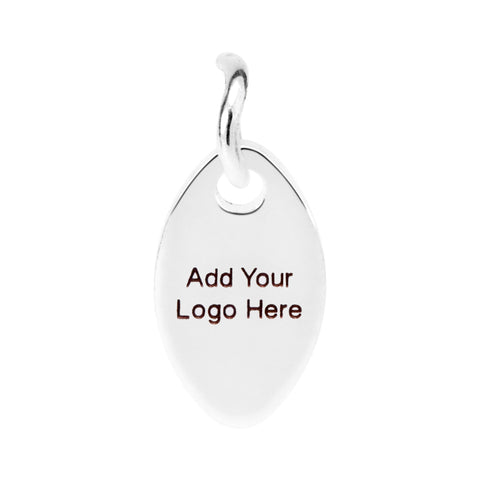 solid .925 sterling silver jewelry tag