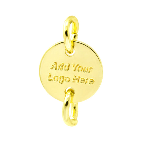 GOLD DOUBLE HOLE TAG