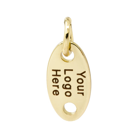 metal jewelry tag