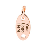 rose gold jewelry tag