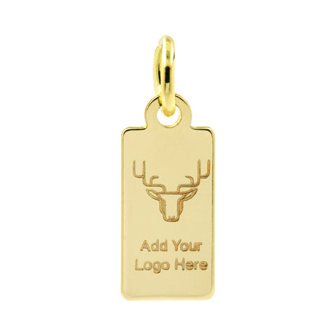 14k gold jewelry tag