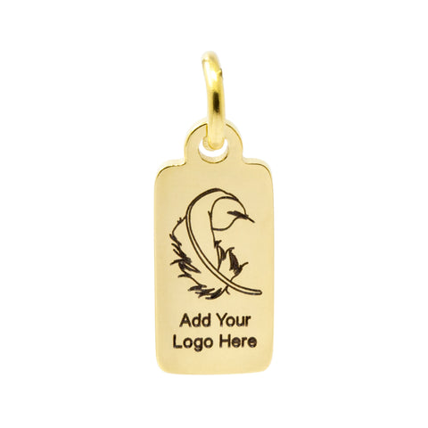 engraved metal tag