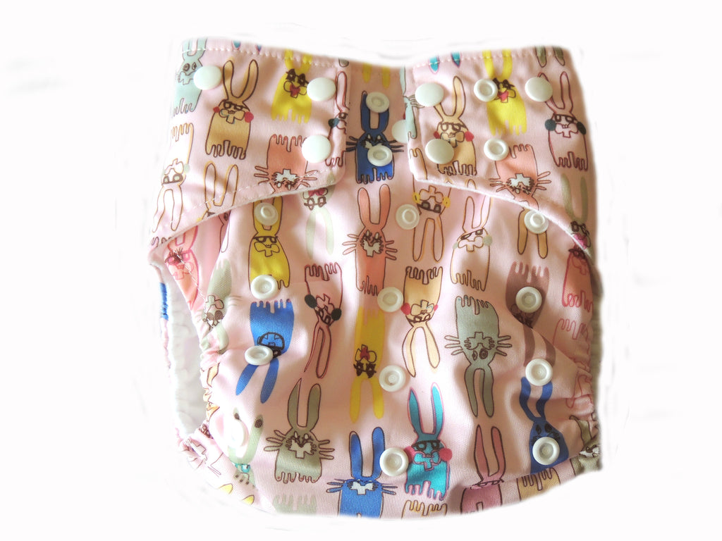 AI2 4.0 Diaper With Double Gussets - Bunnies