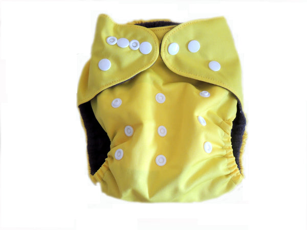 CB Pocket Diaper With Double Gussets - Yellow