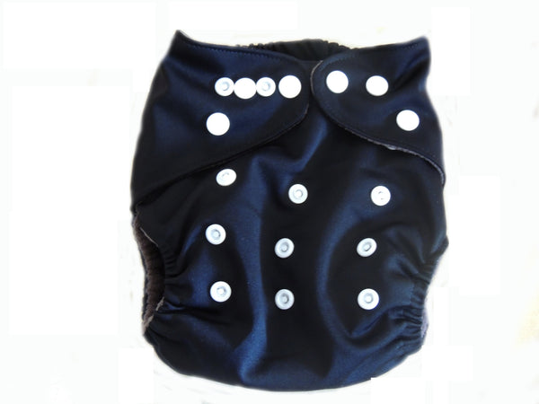 CB Pocket Diaper With Double Gussets - Black