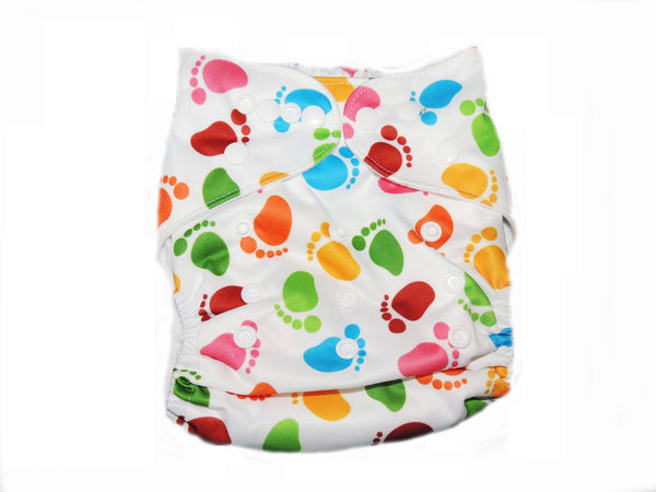 Pocket Diaper With Double Gussets - Baby Prints