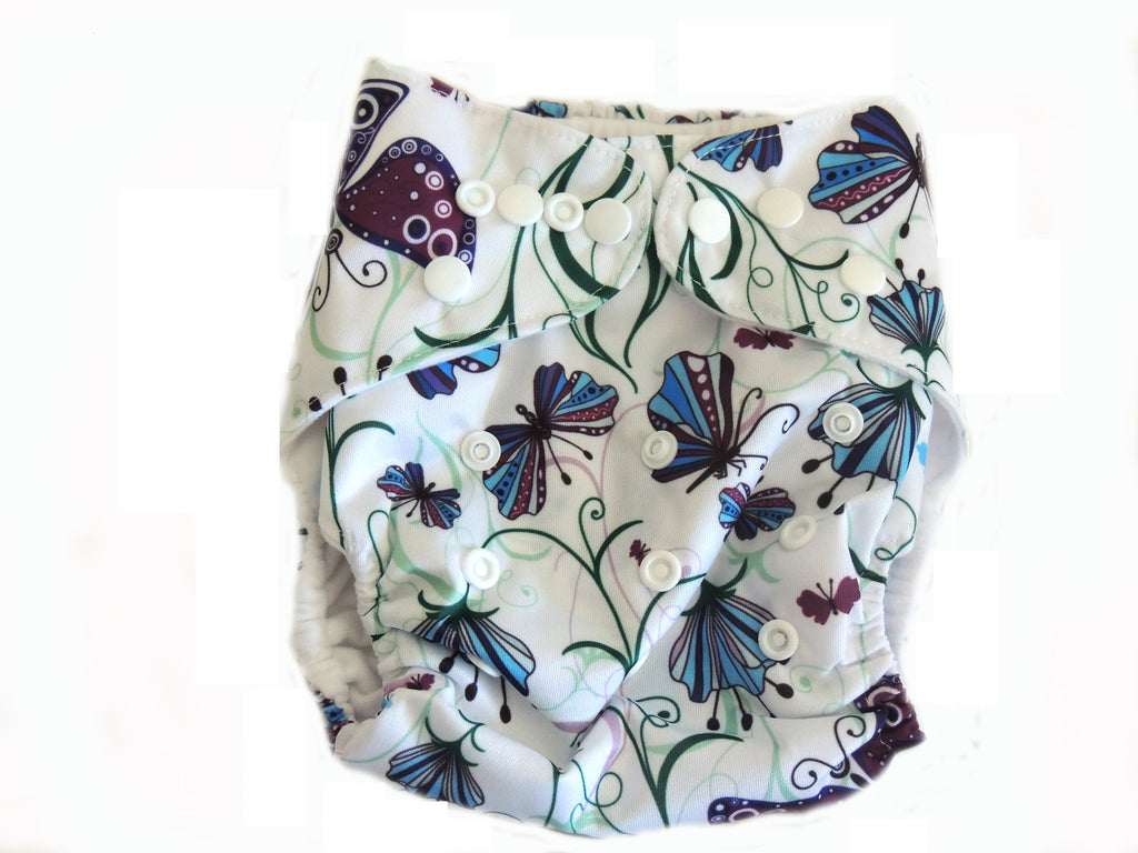 Pocket Diaper With Double Gussets - Ellegant Butterflies