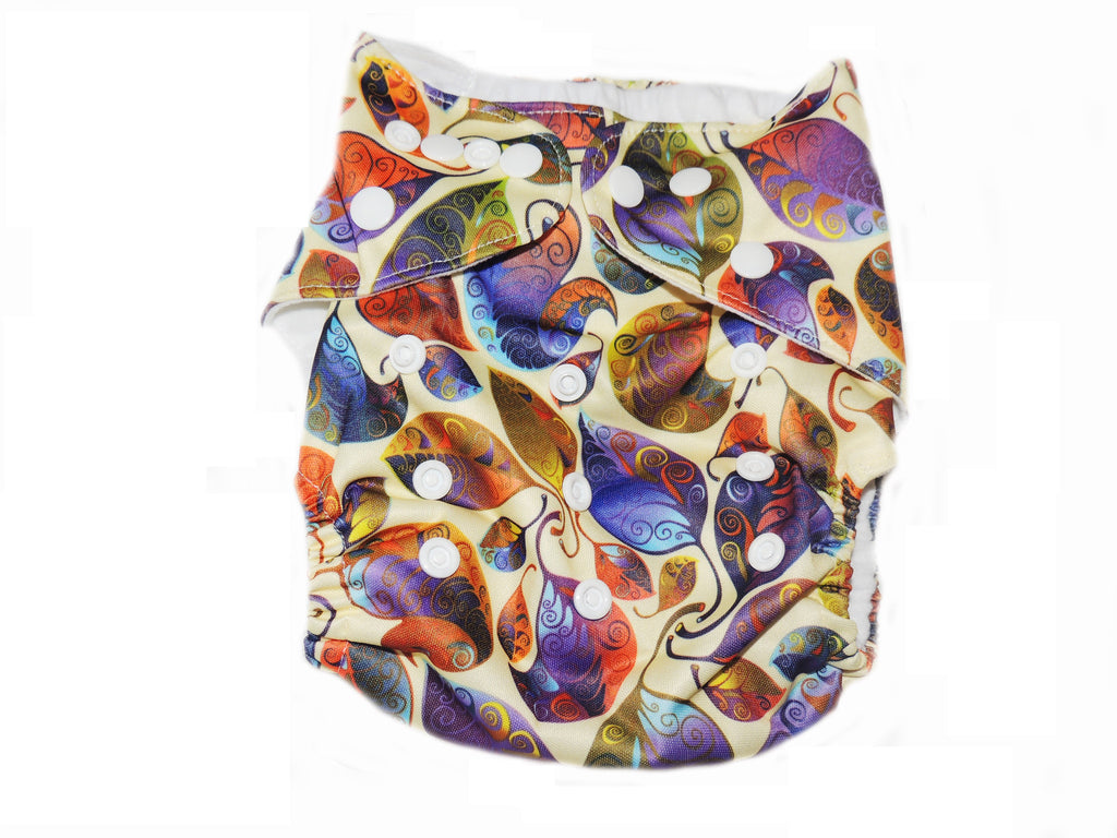 Pocket Diaper With Double Gussets - Fall Leaves