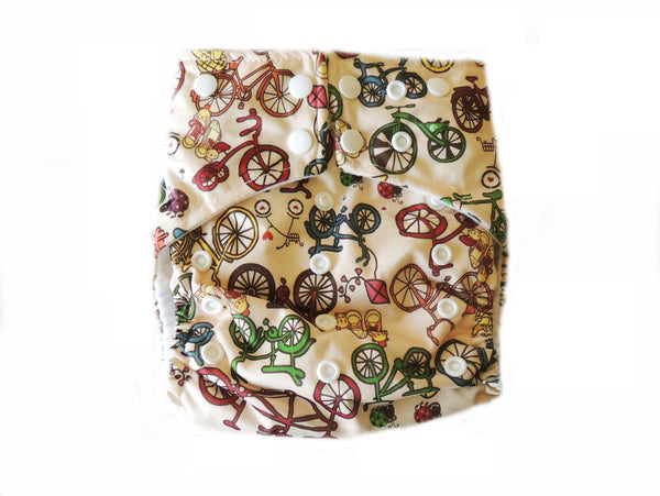 AI2 4.0 Diaper With Double Gussets - Bicycles