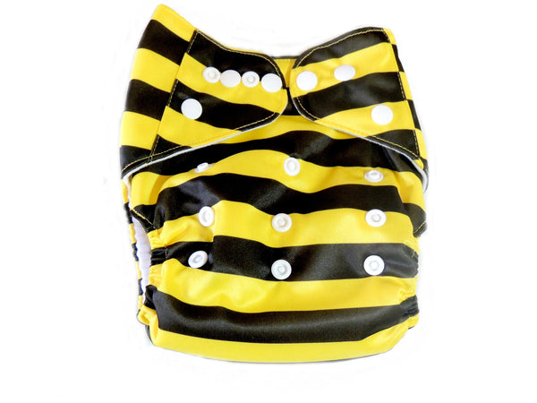 AI2 4.0 Diaper With Double Gussets - Bumble Bee