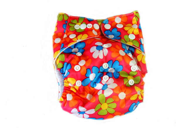 AI2 4.0 Diaper With Double Gussets - Floral