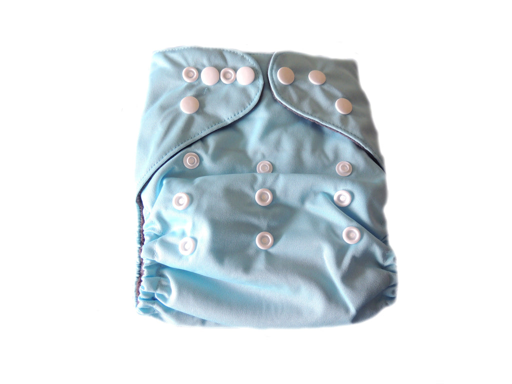 CB Pocket Diaper With Double Gussets - Baby Blue