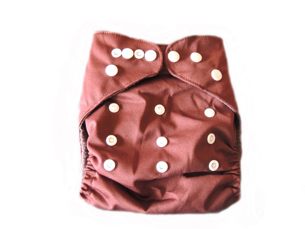 CB Pocket Diaper With Double Gussets - Brown