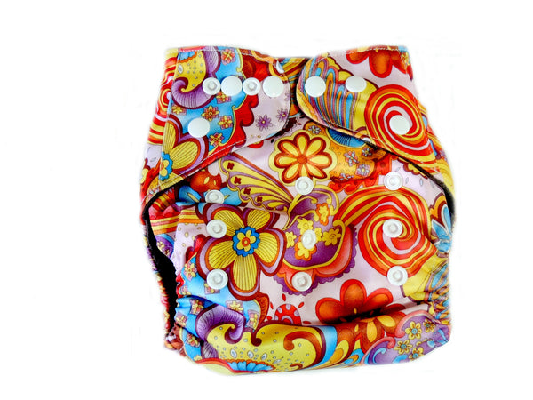 CB Pocket Diaper With Double Gussets - Floral Paisley